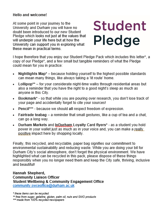 student pledge pic